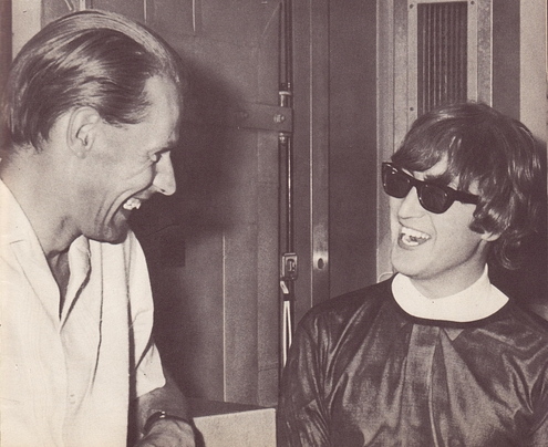 George Martin and John Lennon