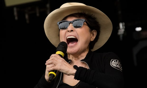 Yoko Ono threatened legal action against the maker of John Lemon lemonade. Photograph: Joel Ryan/Invision/AP